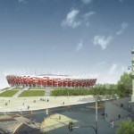 A visualisation of the National Stadium in Warsaw