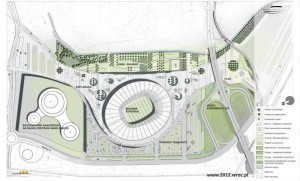 Project of Wroclaw stadium euro 2012 area