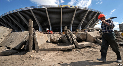 Ukraine has begun improving its stadia for 2012, but will the work be finished