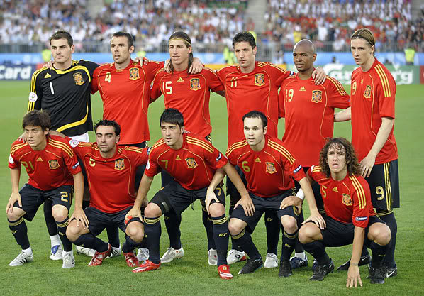 Spain Squad EURO 2012